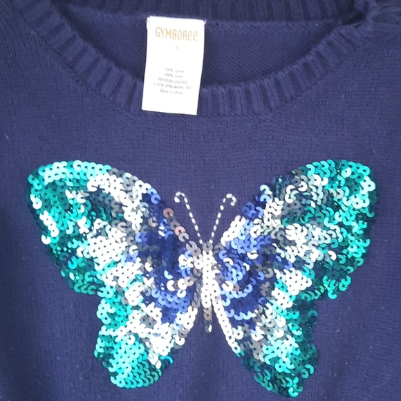 Gymboree butterfly sequined sweater dress